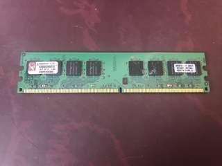 Kingston 1GB KVR800D2N6K2 PC2-6400 (DDR2-800) Memory RAM 記憶體