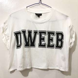 Topshop Dweeb Crop Top