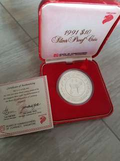 1991 $10 Goat Silver Proof