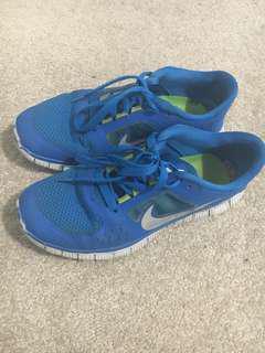 Blue Nike Free Run 3