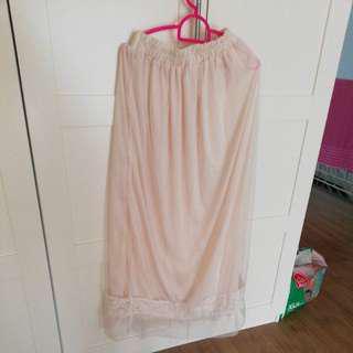 Long Skirt cream white