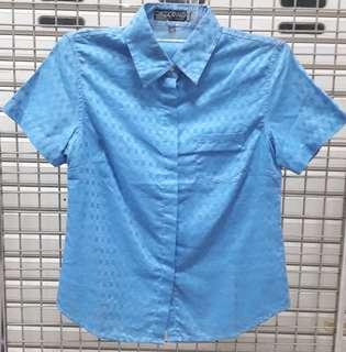 Classic Khakis Blue Shirt Size L - Kemeja