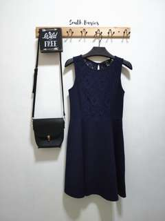 Forever21 naby blue dress