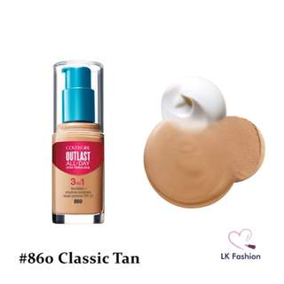 💕 Instock 💕 Covergirl Outlast Stay Fabulous 3-IN-1 Foundation 💋 #860 Classic Tan 💋
