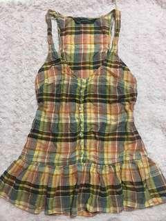 Zara halter checkered top