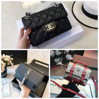 🚚 專櫃YSL  CHANEL Gucci 包包 側背包 整組三個13000可議