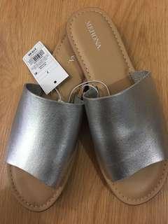 Brand New Merona Silver Slip-Ons