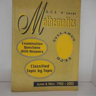 A Level Mathematics (1982-2002)