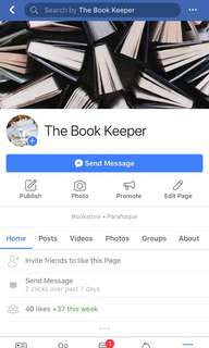 LIKE & Share The Book Keeper on FB