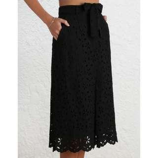 Zimmerman - Pavilion Broderie Black Skirt