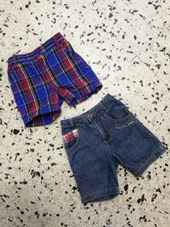 Mothercare & baby kiko Short Pants 0-6months