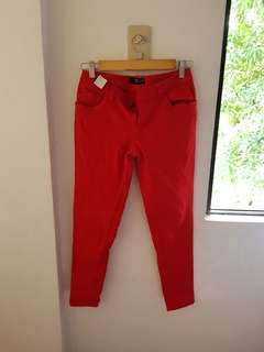 Memo Red Jeggings Size 27 to 28 Strech