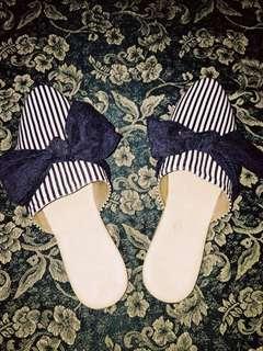 Flats - Stripe Blue