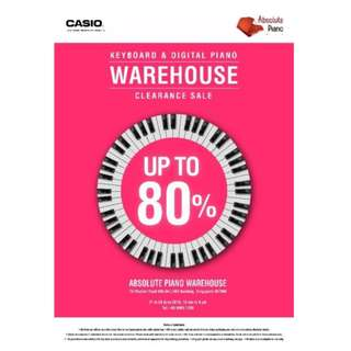 Casio Warehouse Sale! Digital Piano - Keyboard - Accessories