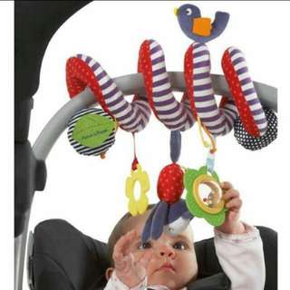 Spiral crib and stroller toy