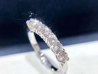 終極大優惠❤️只做1隻💎52分Tiffany款18k白金鑽石戒指💍生日禮物給婚戒指女朋友情人節推薦