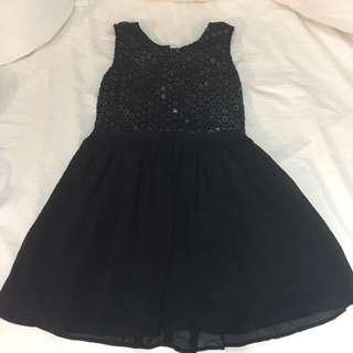 Designer Black Dress Size 14