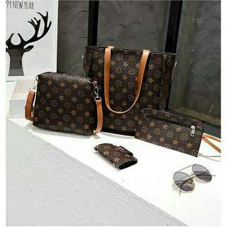 4 in 1 LV inspired Shoulder Bag