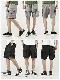 八折出清 側口袋機能工裝短褲