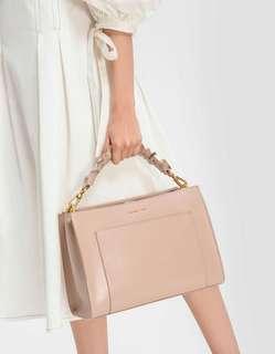 Charles & Keith Ruffle Handle Bag