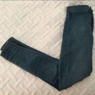 Topshop joni jeans high waisted blue w24 30