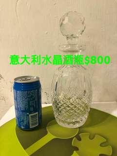 意大利水晶雕花酒瓶