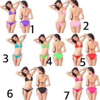 Bikini Swimsuit Swimwear Baju Renang Celana Dalam Underwear Wanita Monokini Lingerie Sport Bra Braset Bralette Gstring G String