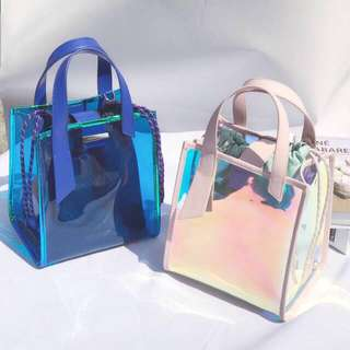 Charles and keith hand bag hologram