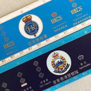 絕版 皇家香港警察 RHKP 香港懲教署 EllR 英女皇Elizabeth二世 HKCS 各種官階 Ruler 間尺