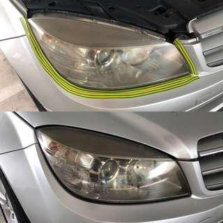 Mercedes C180 headlight brightening