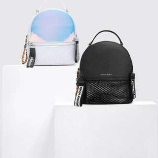 Charles and keith hologram backpack