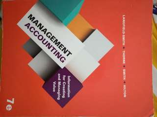 Management accounting - ISBN 9781743075906
