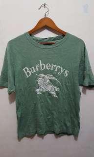 Baju burberrys size L big logo
