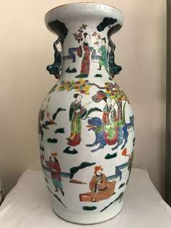 A exceptional Porcelain Figural Vase