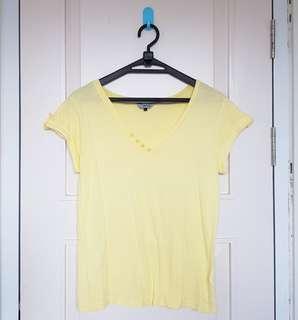 Kaos redherring kuning soft polos big size