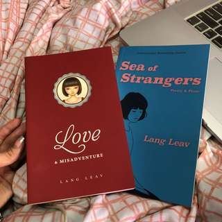 "Selling 2 Lang Leav books: ""Sea of Stranger"" and ""Love & Misadventure"""