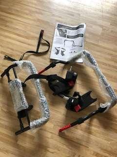 Car seat adaptor for single strollers