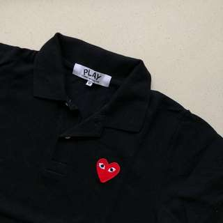 CDG Play Red Heart Polo
