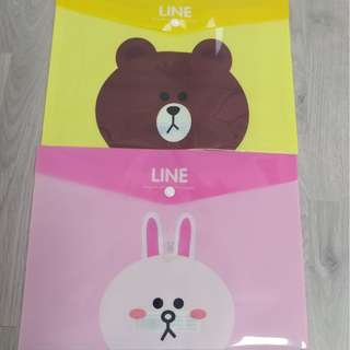 LINE BEAR / RABBIT A4 BUTTON FILE @ $1 ONLY!!! READY STOCKS!