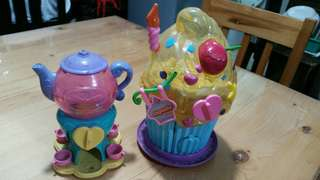 Squinkies teacup and cupcake