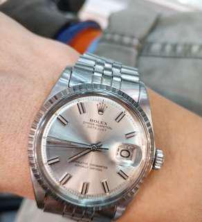 """Vintage Rolex 1603 """"wide boy"""" with original julibee bracelet."""