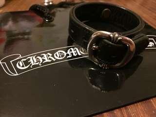 Chrome hearts leather belt bucket bracelet goros first arrow
