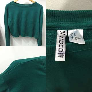 CROP SWEATER FLARE H&M DIVIDED