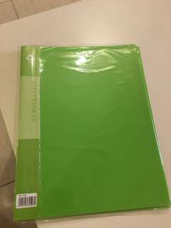 Clear book 20 pockets