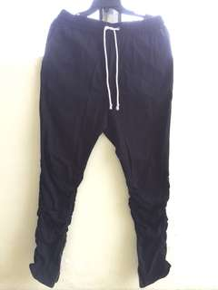 hm twill pants black