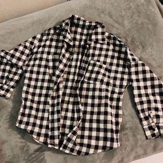 Oversized checkered TOP or outerwear Free pos