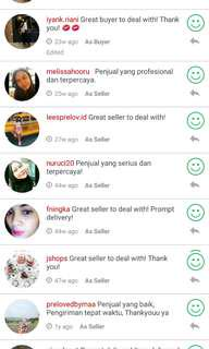 Thank you all ☺