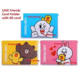 LINE Friends Card Holder with SD card Slot.