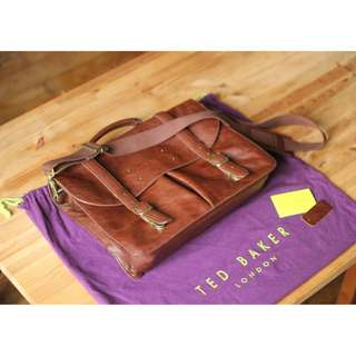 Ted Baker NUBRAN Grained leather briefcase