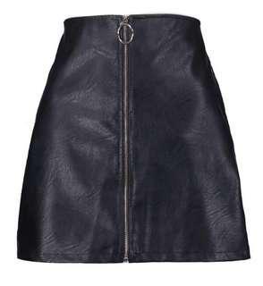 BNWT Leather-look skirt